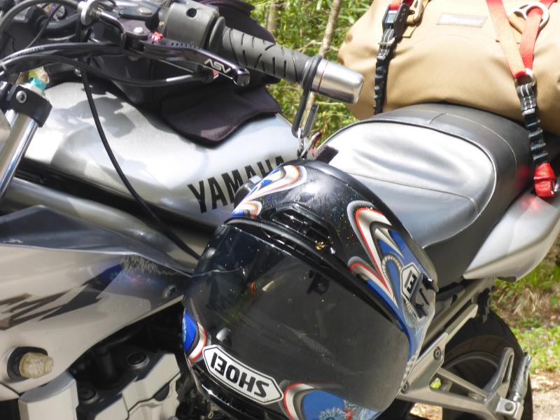 Helmet Hook in action on my Yamaha FZ1