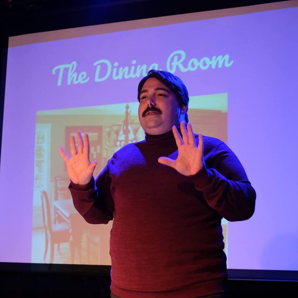 Alexander Scally as David Mark Davids in  Building Your Emotional Home  at the Annex Theater. Photo credit: Glenn Ricci
