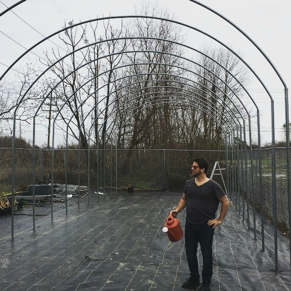 Artist pictured for scale