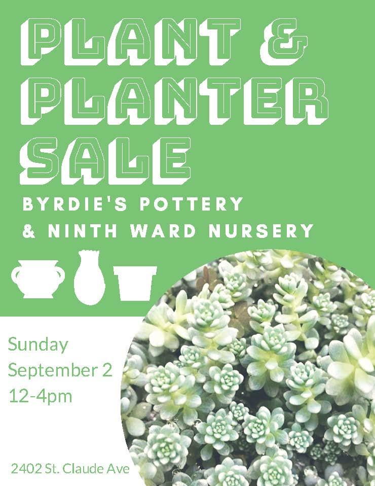 ninth ward nursery plant and planter sale