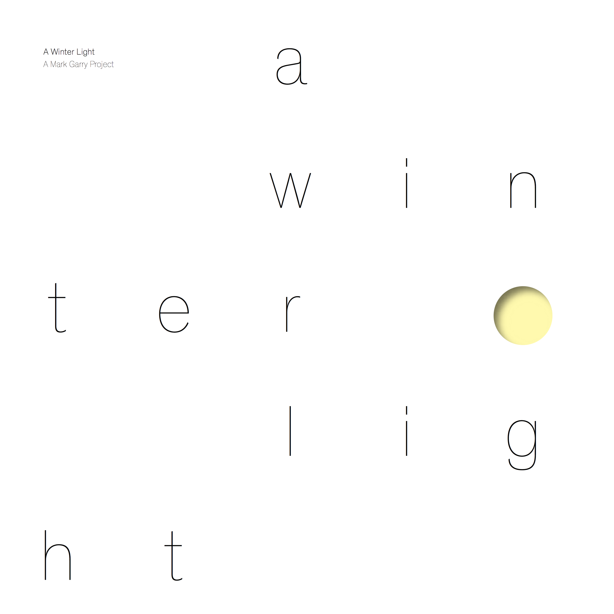 A Winter Light (Album Art)