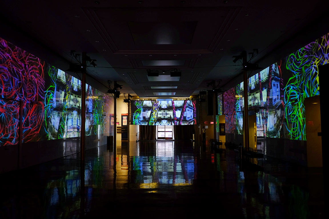 Sombras Silvestres , 2018  Site-specific video installation  The Kennedy Center, Washington DC