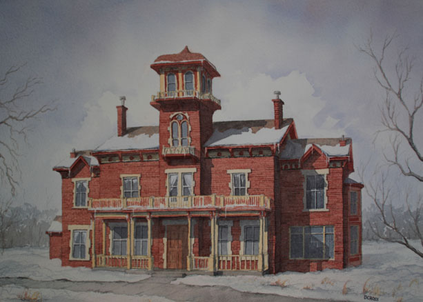 Finished painting of Ryan Mansion