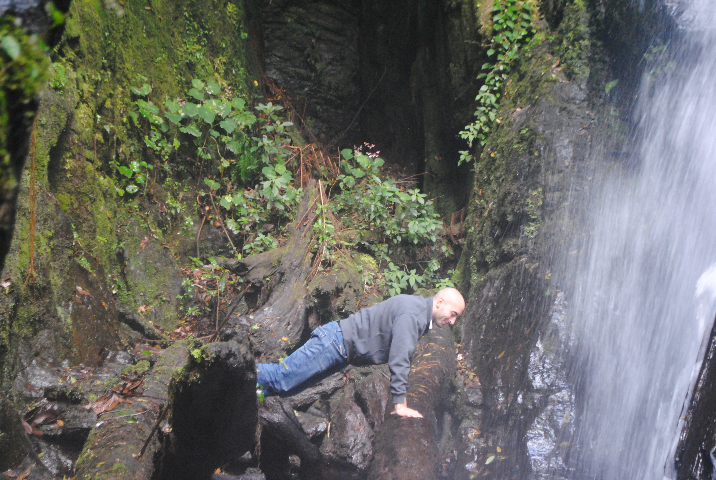 Ramzi at the Waterfall