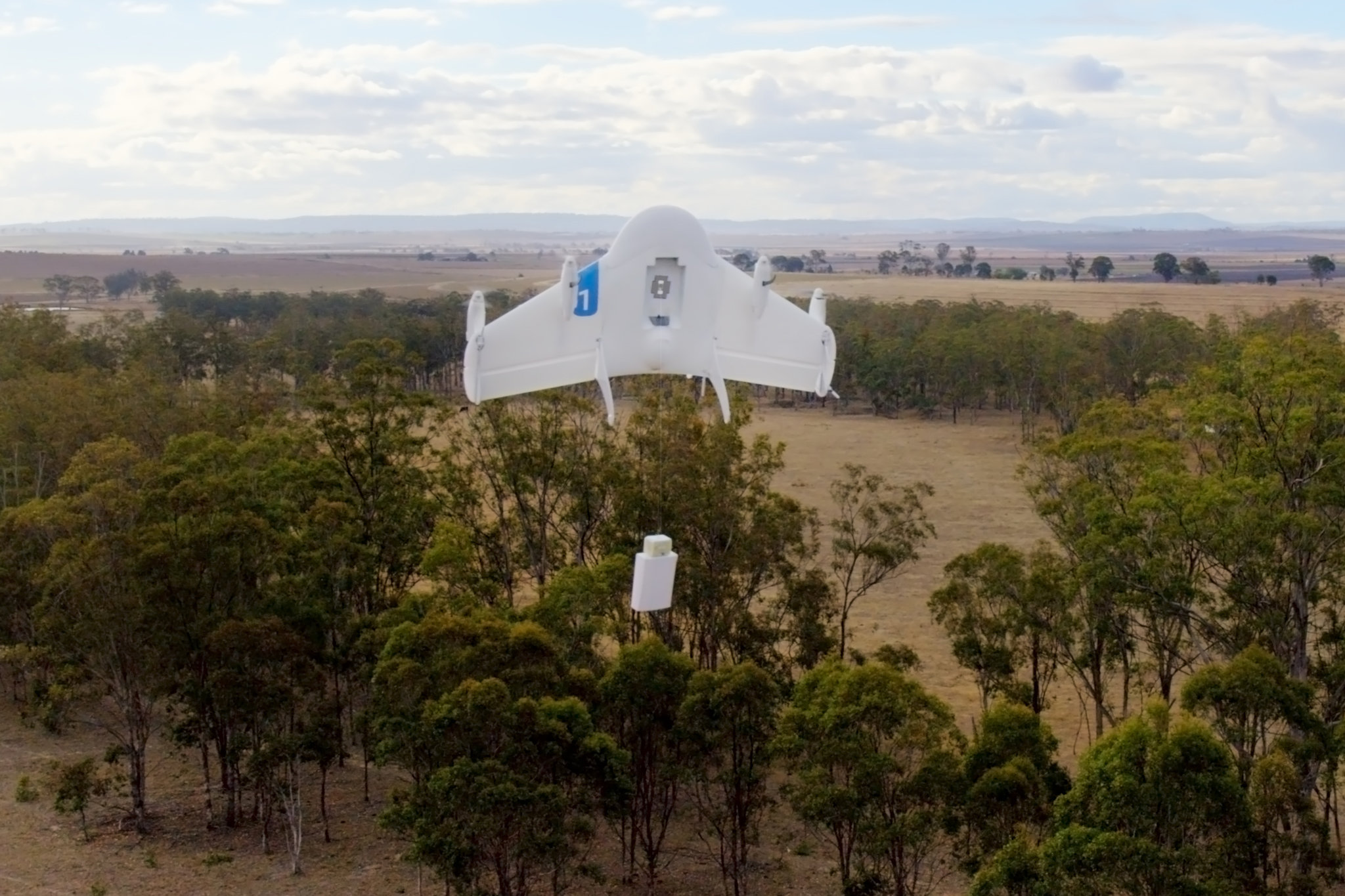 An experimental Google delivery drone in Queensland, Australia. Legal, social and financial hurdles for drone use remain.      Credit Google