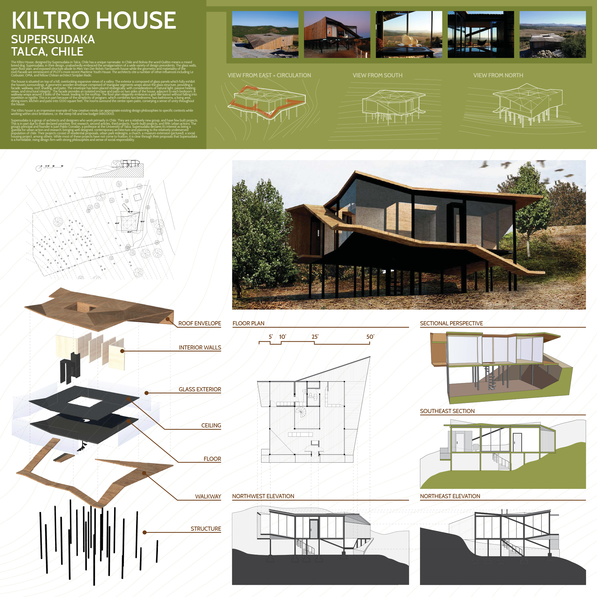 Kiltro House, Supersudaka, Ian Miley, Arch 124A, UC Berkeley
