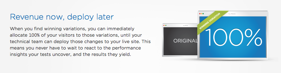 Optimizely offers idiot proof CRO and A/B testing.
