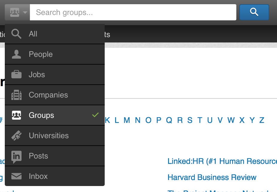 searching linkedin groups