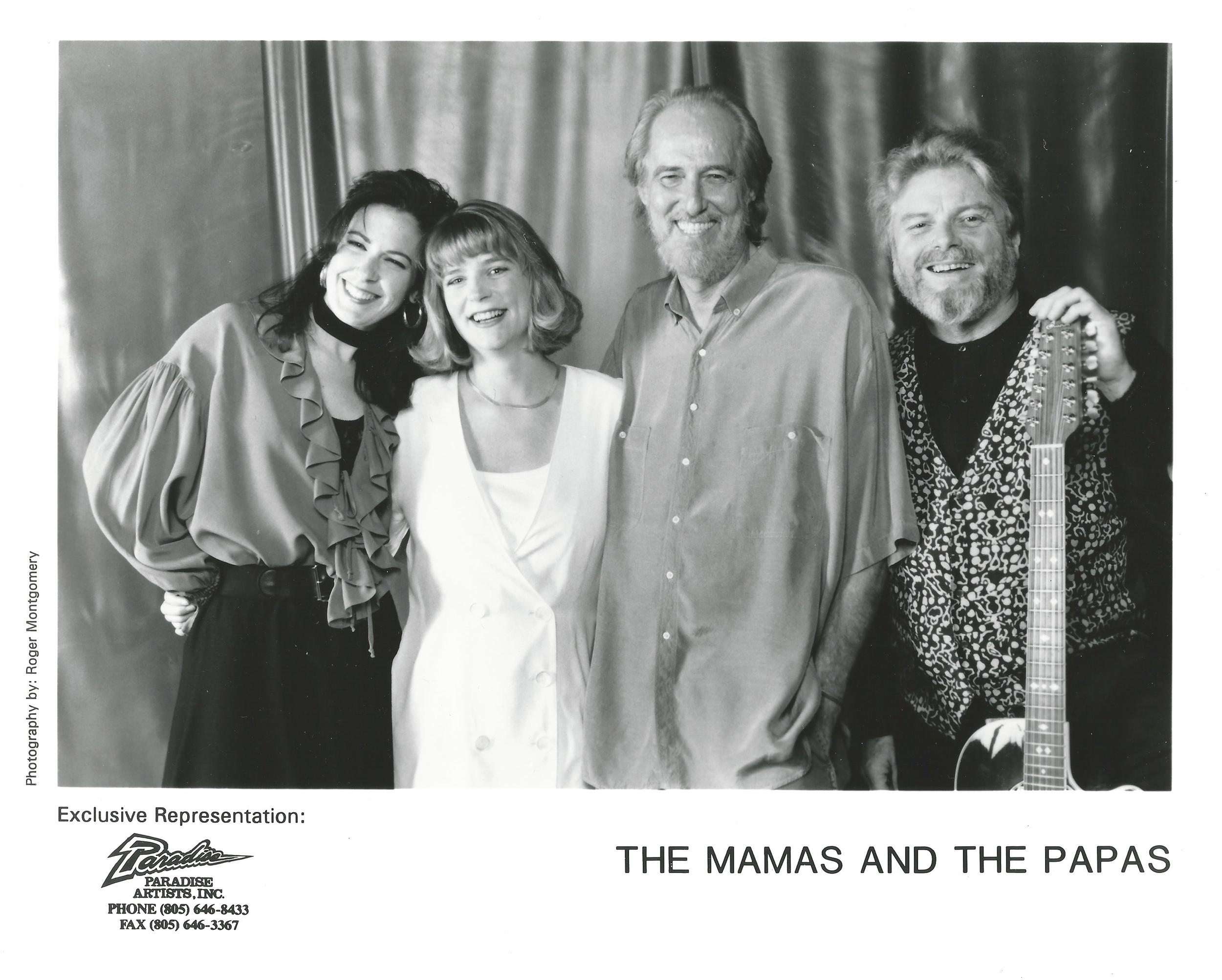 With Lisa Brescia, John Phillips and Scott McKenzie.  The Mamas & The Papas