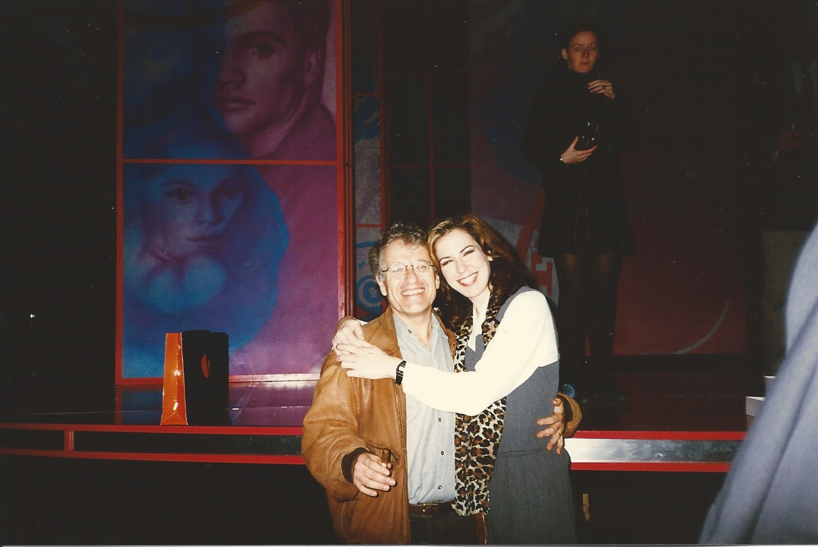 """With director, Jerry Zaks at """"Smokey Joe's Cafe"""" in London"""
