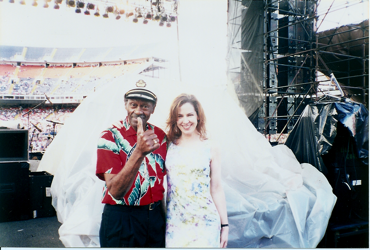 With Chuck Berry at Mile High Stadium Concert