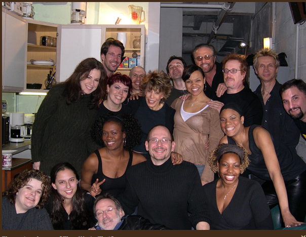 """The cast of the Off-Broadway show """"They Wrote That?"""" with legendary songwriters Cynthia Weil and Barry Mann"""