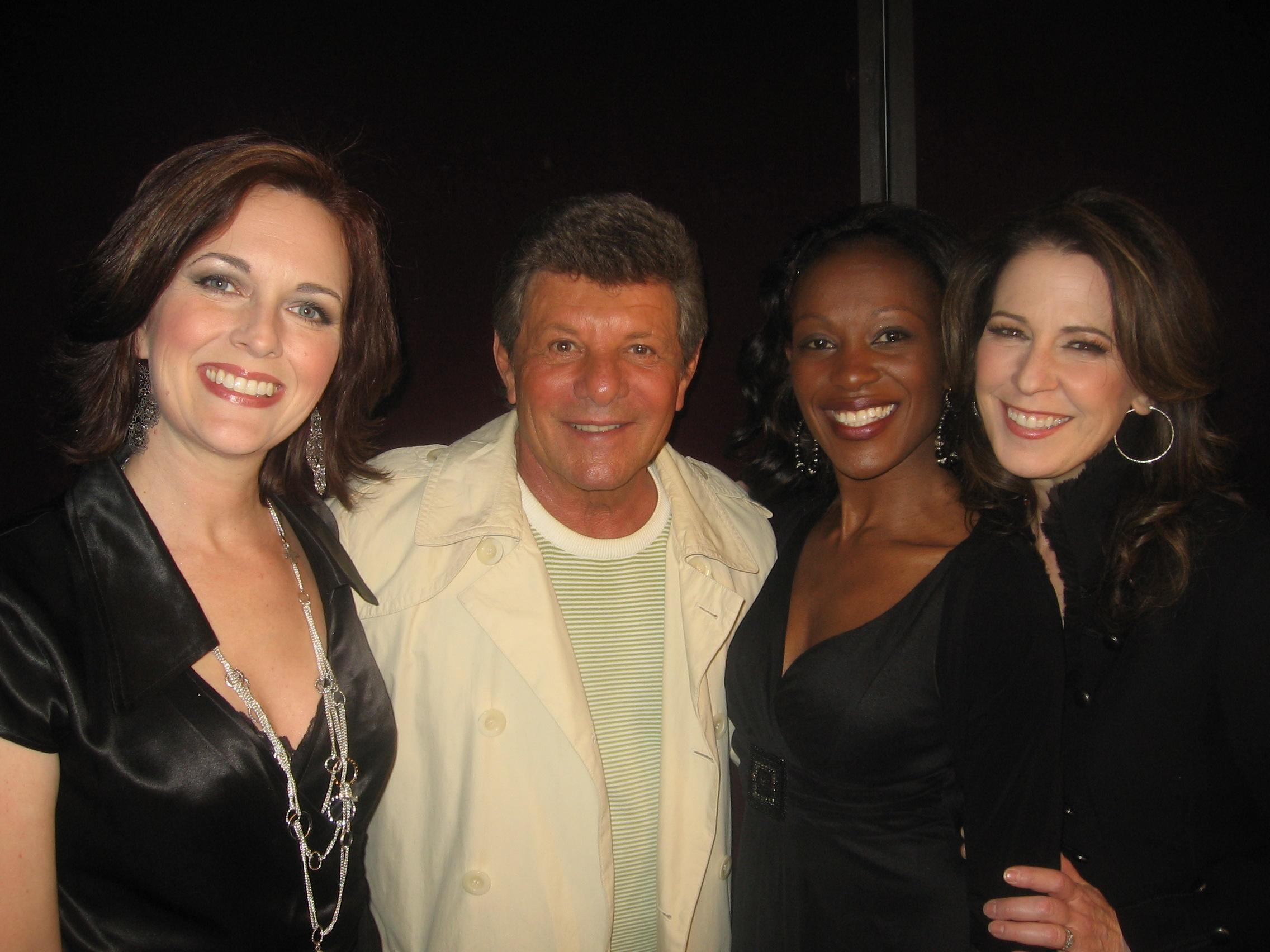 Backup singers for Frankie Avalon with Kristina Pruitt and Tiffany Nesbit Jones