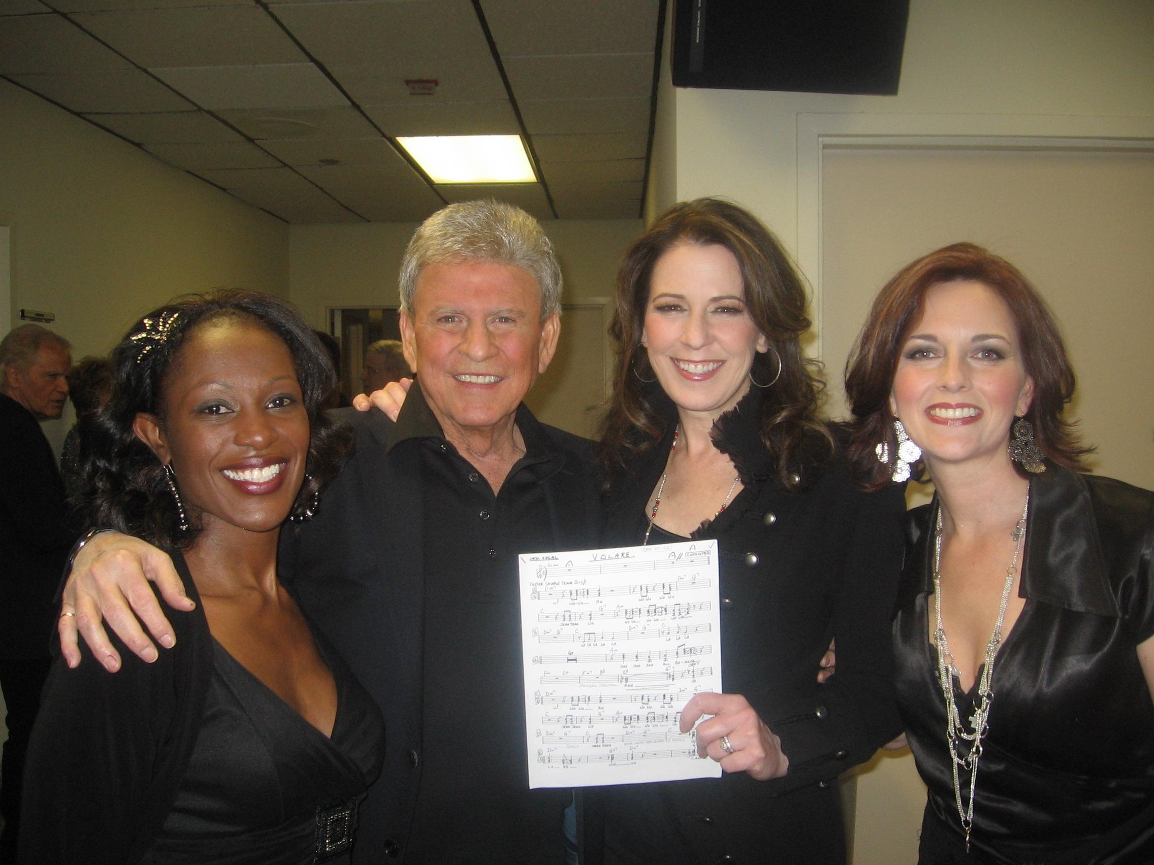 Backstage with Bobby Rydell and fellow backup singers, Tiffany Nesbit Jones and Kristina Pruitt