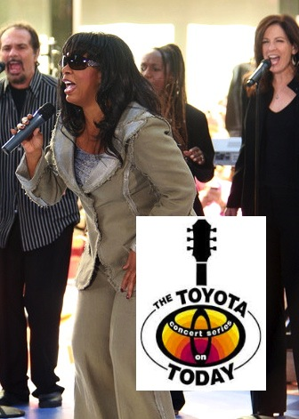 """Singing backup for Donna Summer on the """"Today"""" Show."""