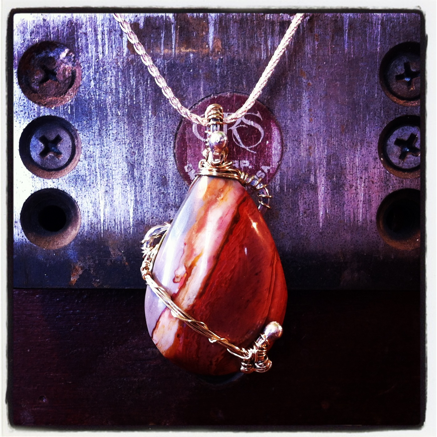 Wire Wrapped Pear
