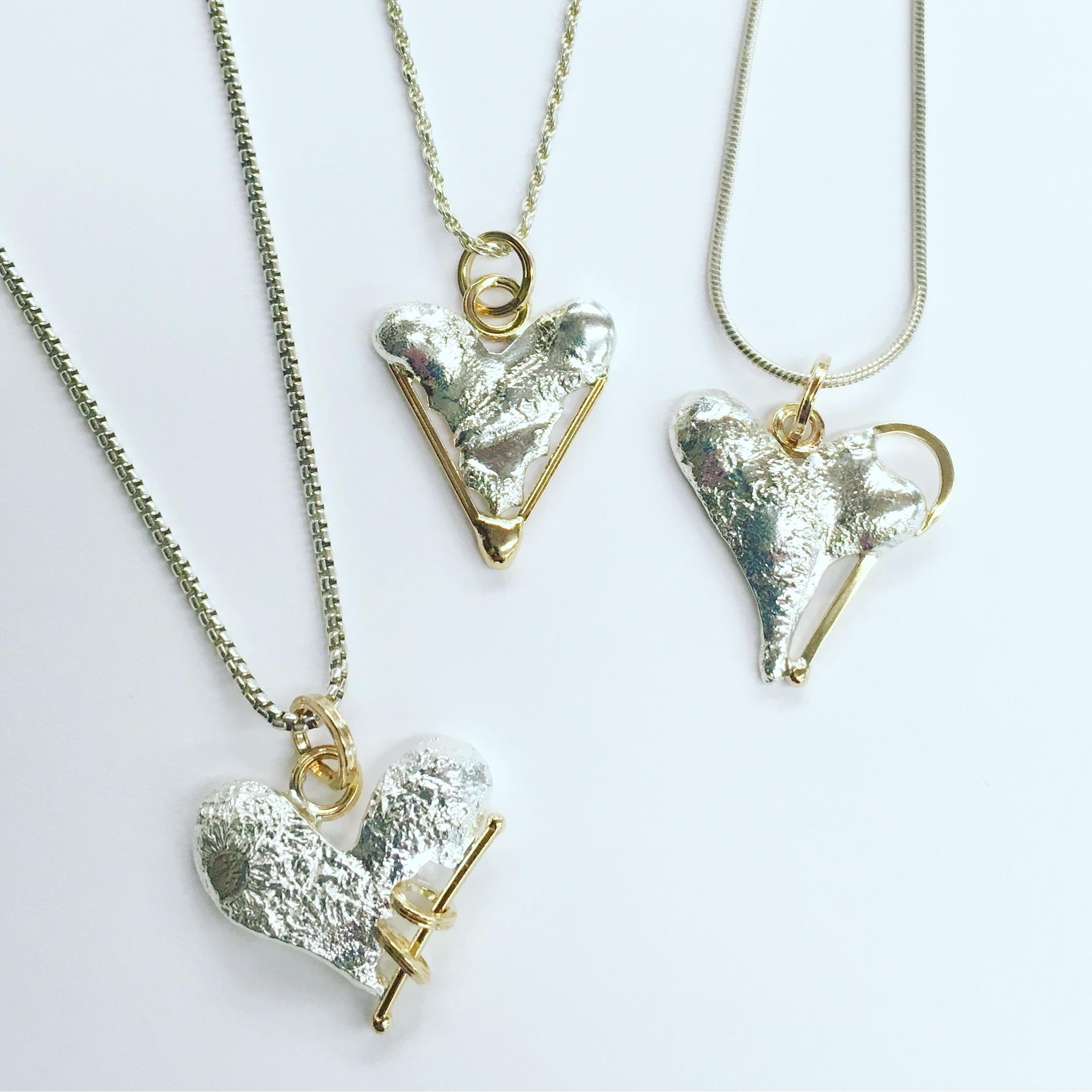 Kintsugi Heart Pendants