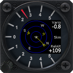 Flarm Radar Anzeige