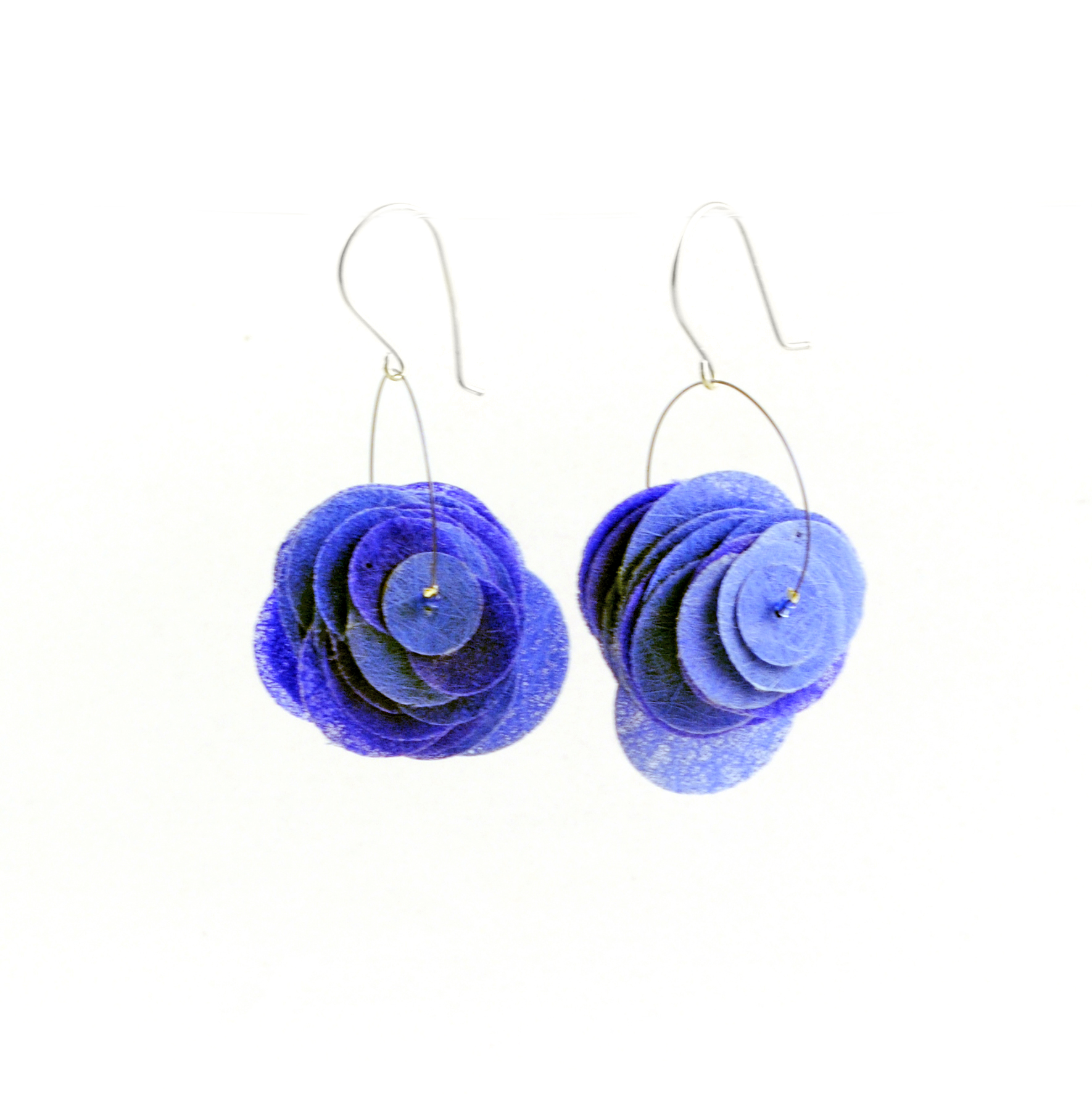 Ultramarine Paper Earrings