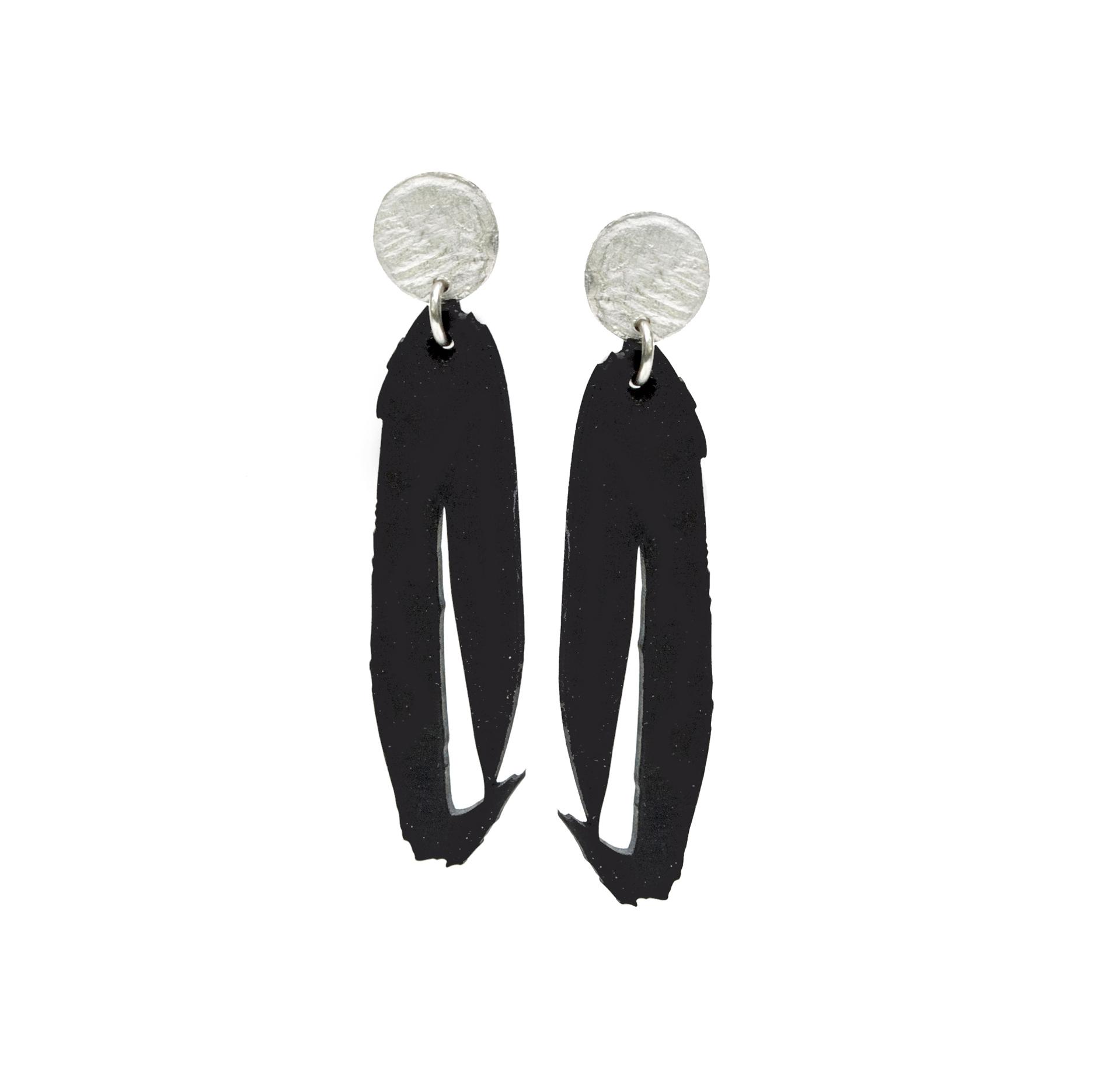 Ink Stroke Earrings