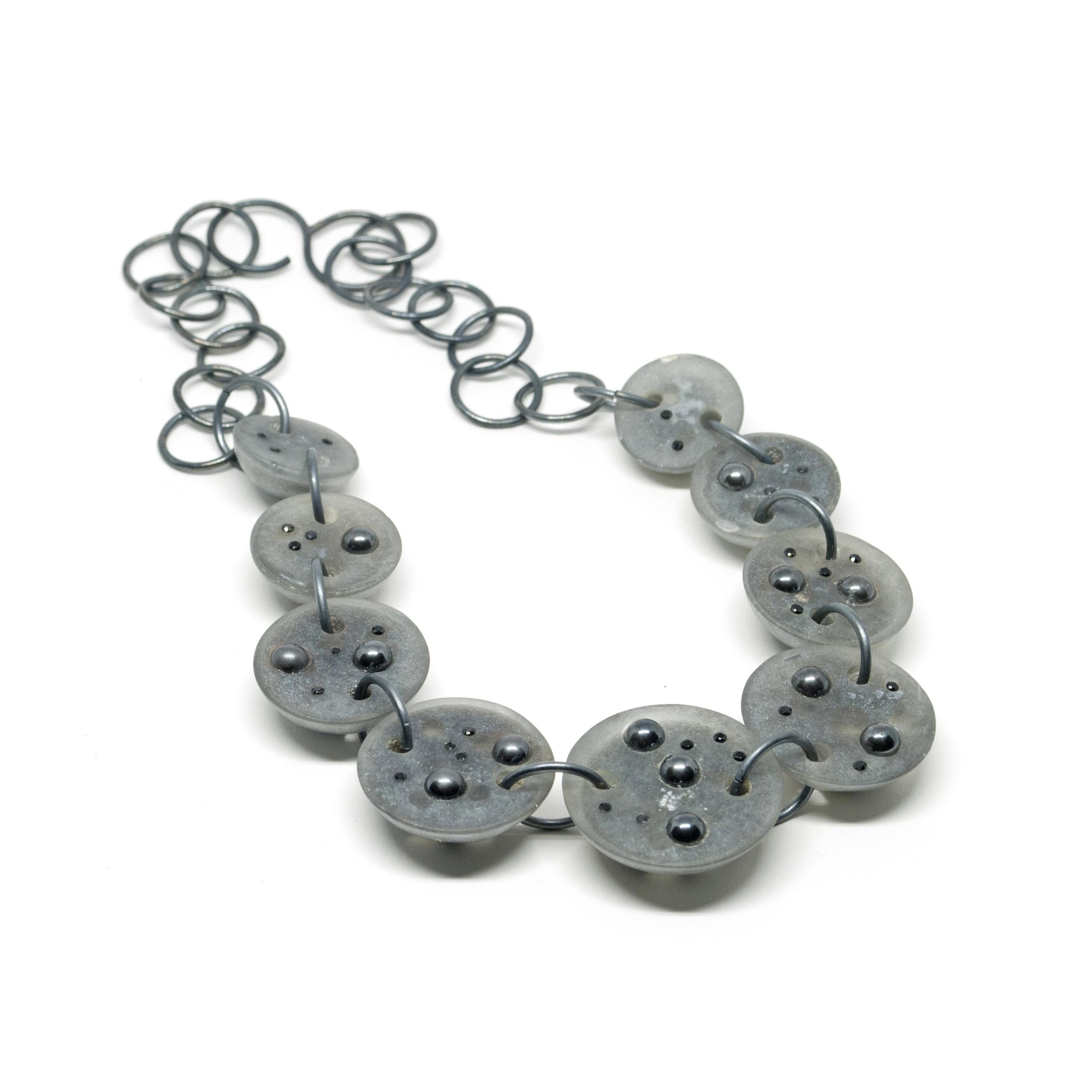 Grey Moon Necklace