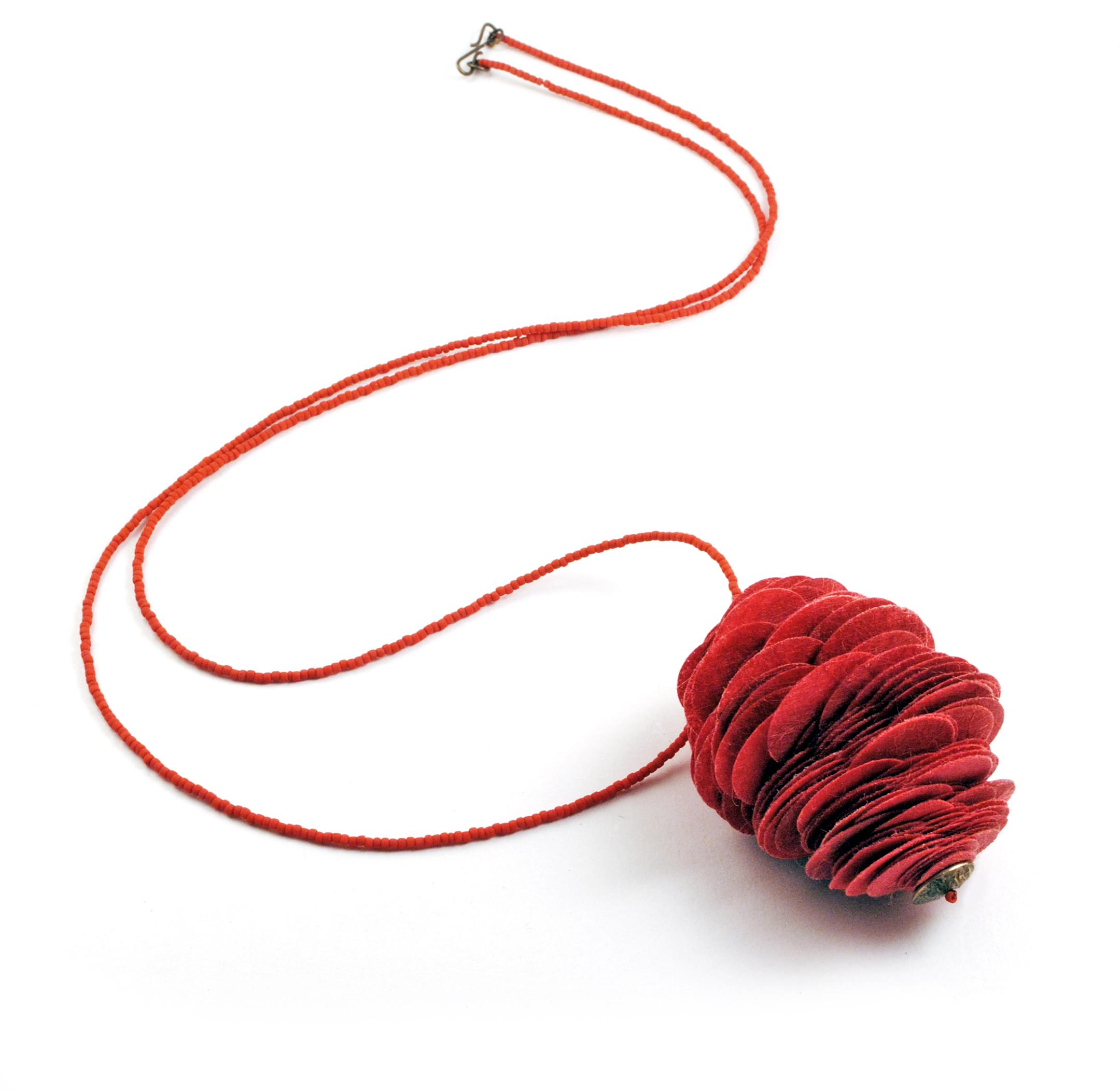 Red Strobilus Pendant