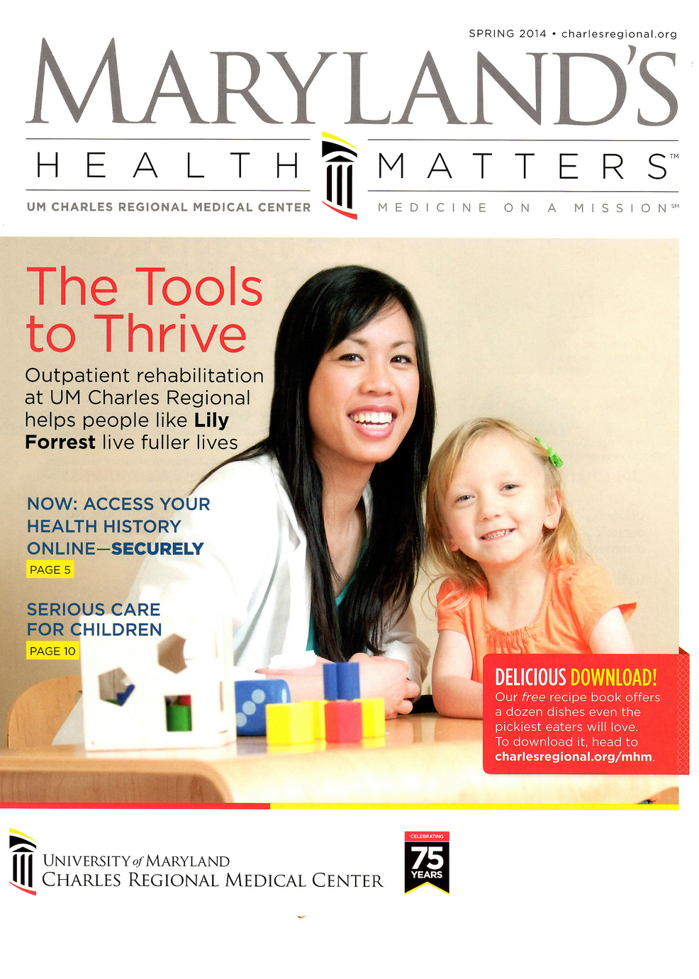 Cover photo for Maryland's Health Matters magazine.