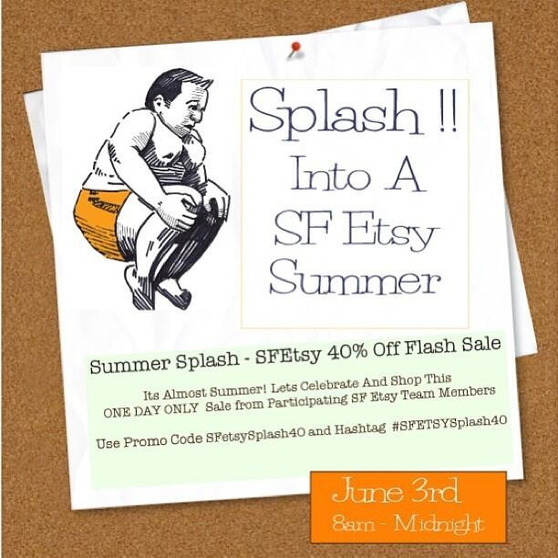SF Etsy Summer Splash Sale 40% off