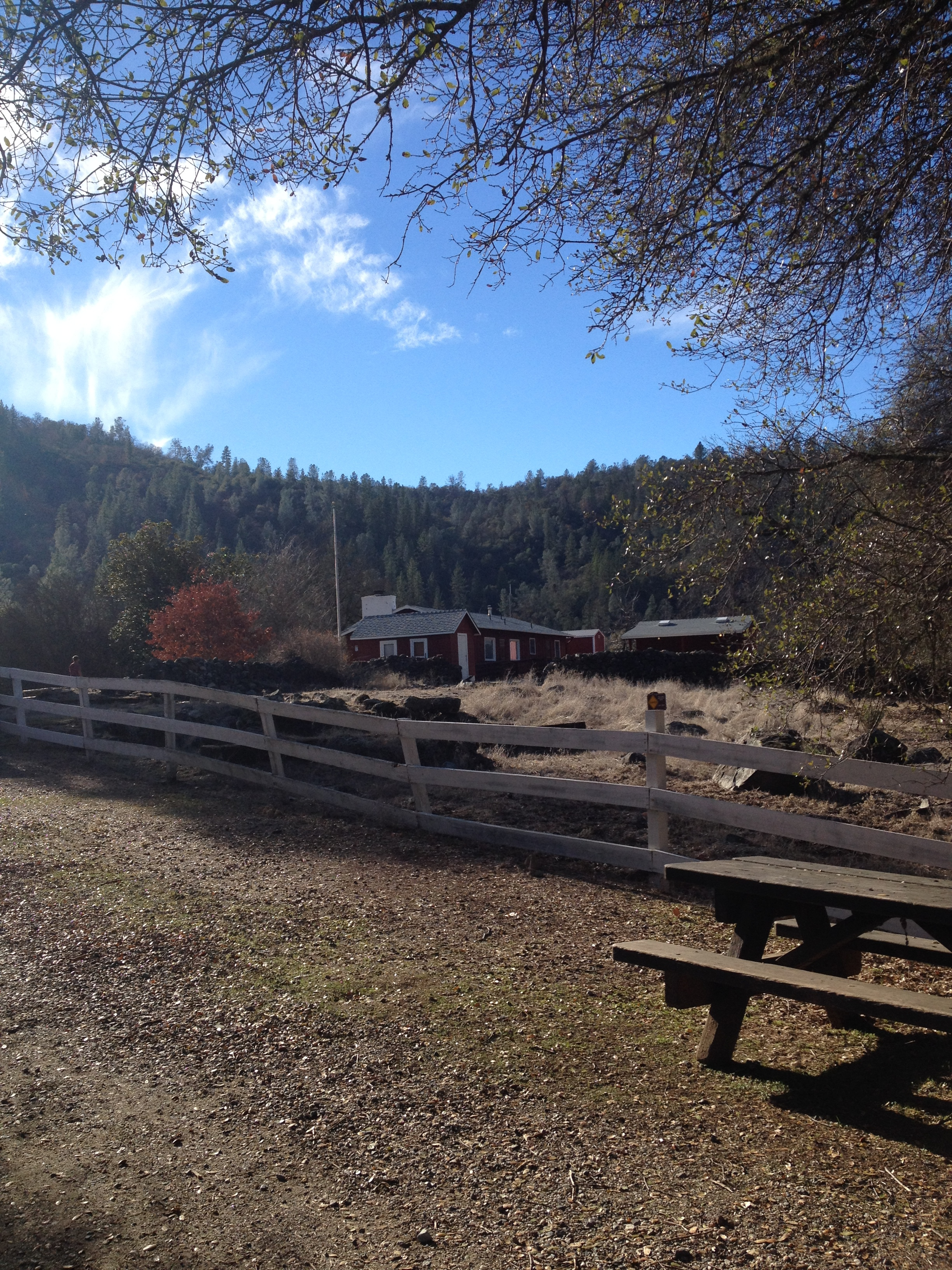 A view of the visitor's center at the  South Yuba River State Park . This area reminded me of the East Coast. I can't wait to come back in the summer.