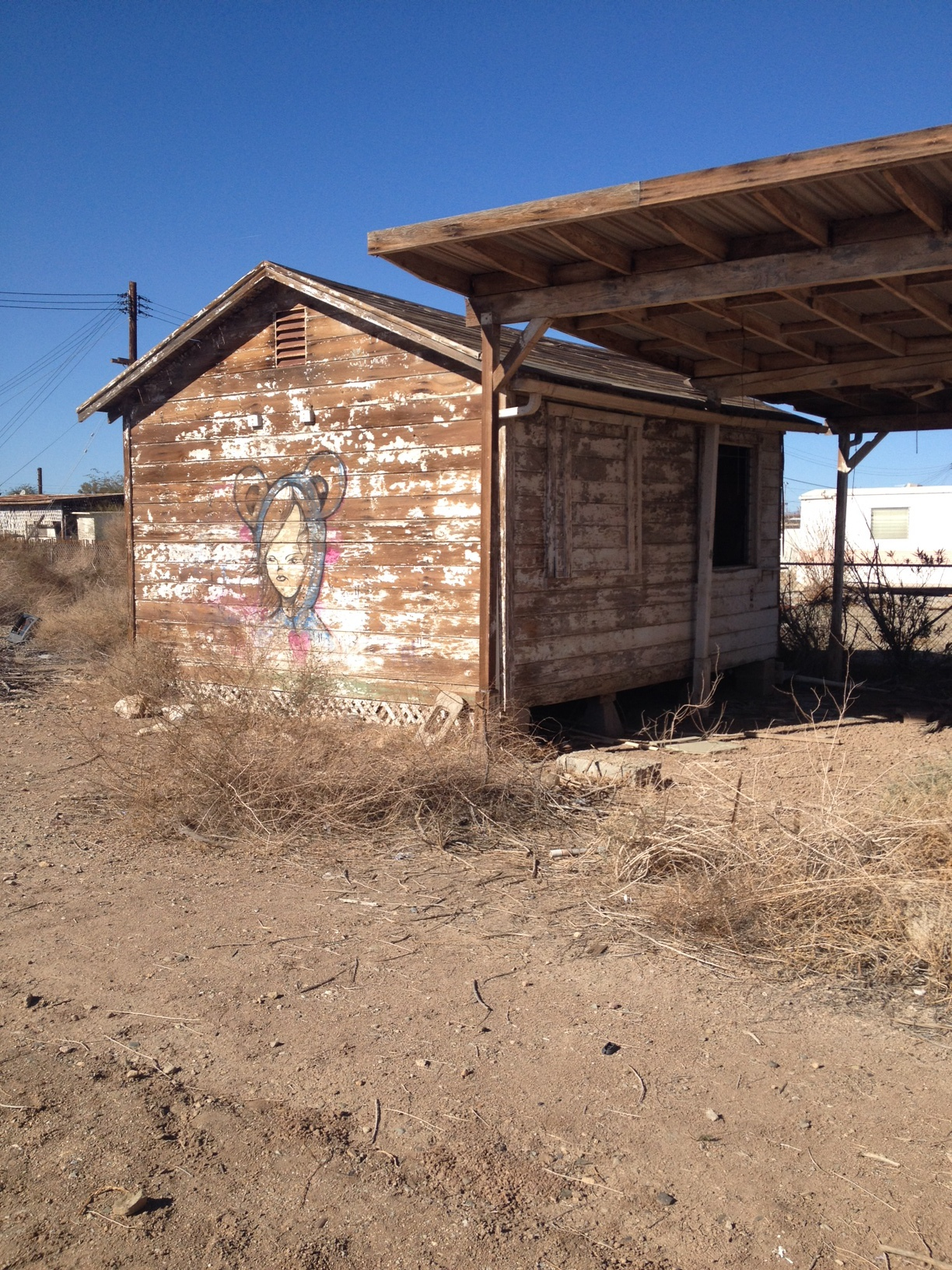 Graffiti in Bombay Beach