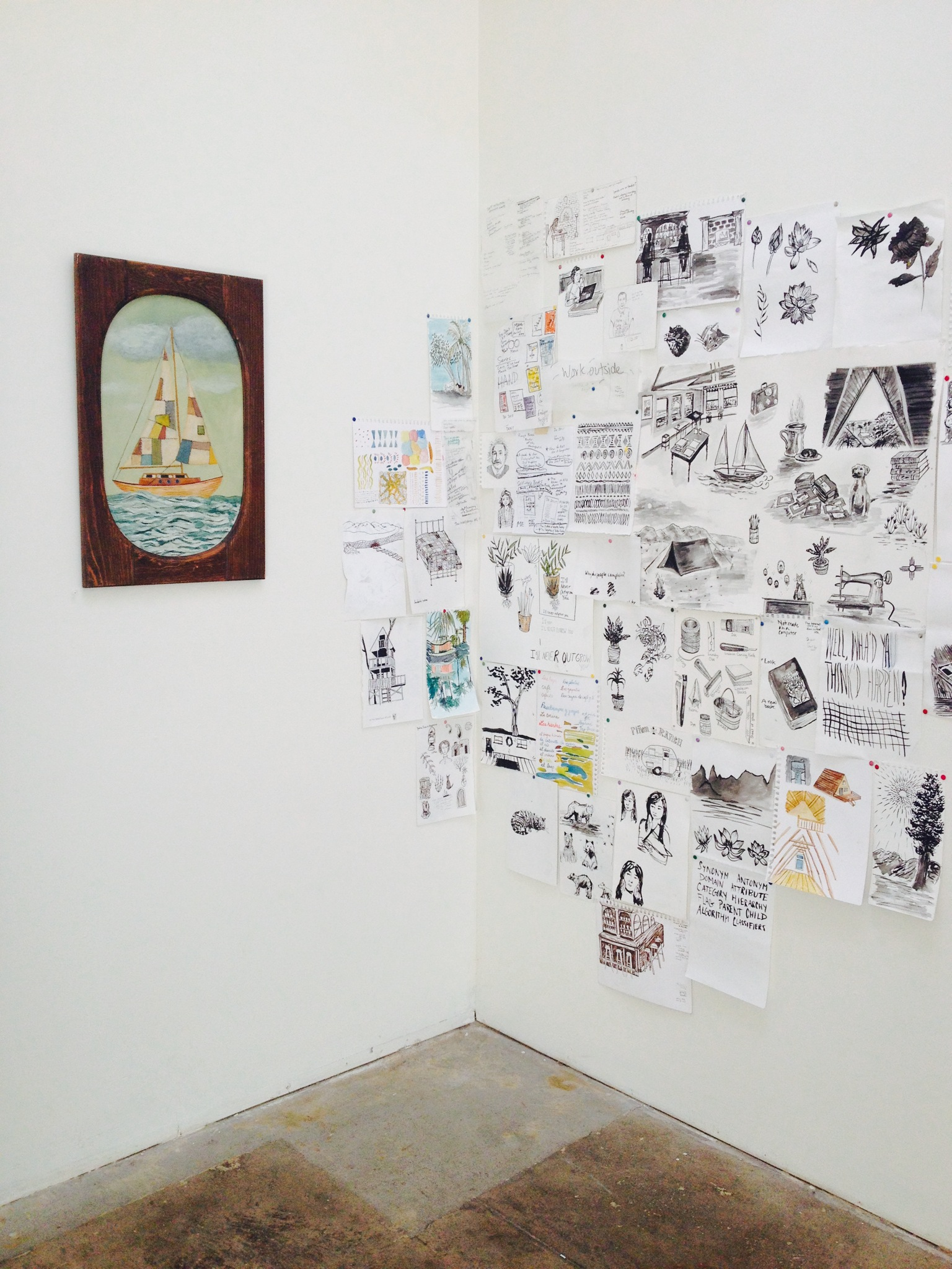 Installation for Lay Low solo show at Seeing Things Gallery