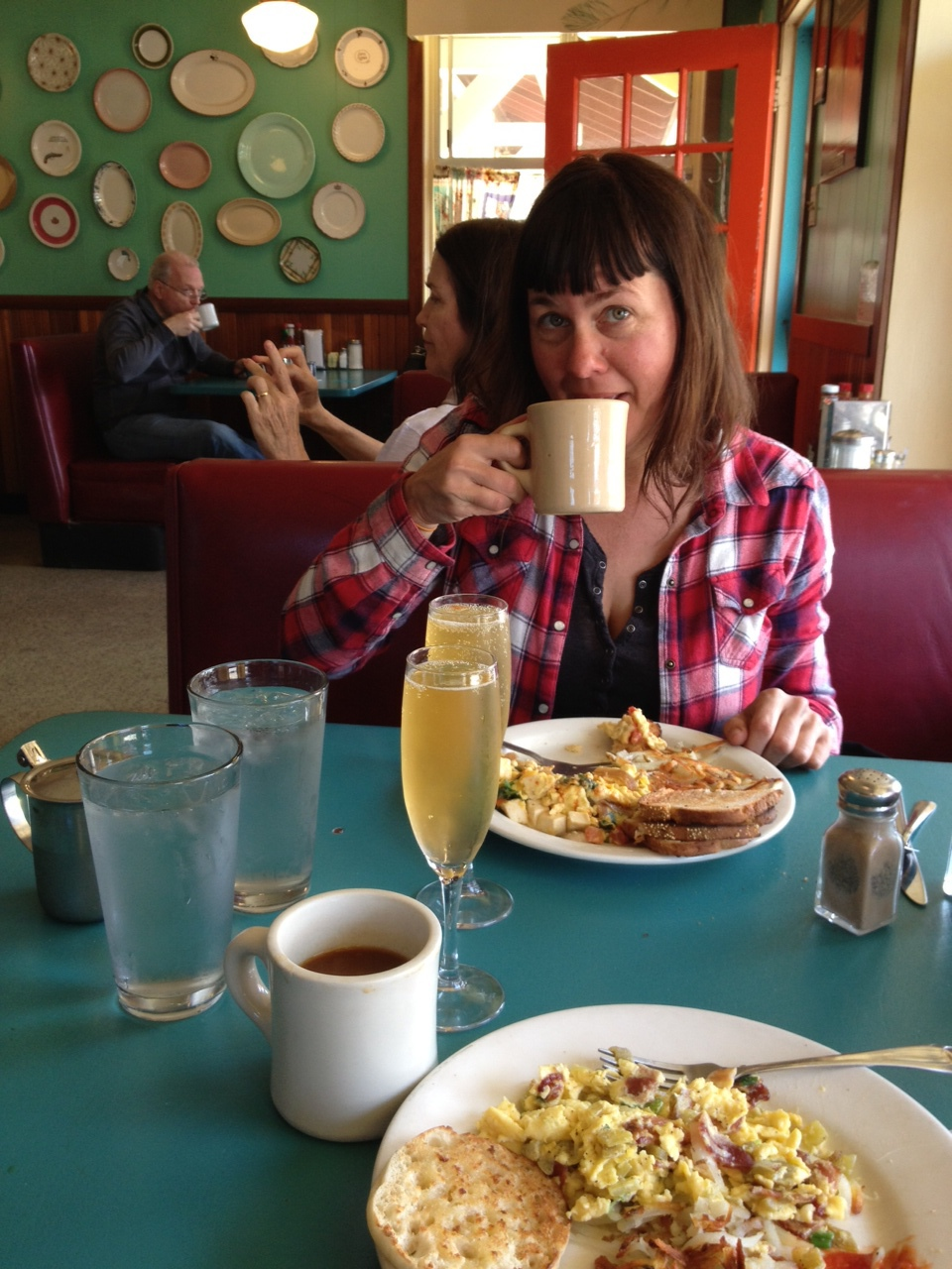 Kelli's post-birthday breakfast at the Pine Cone Diner