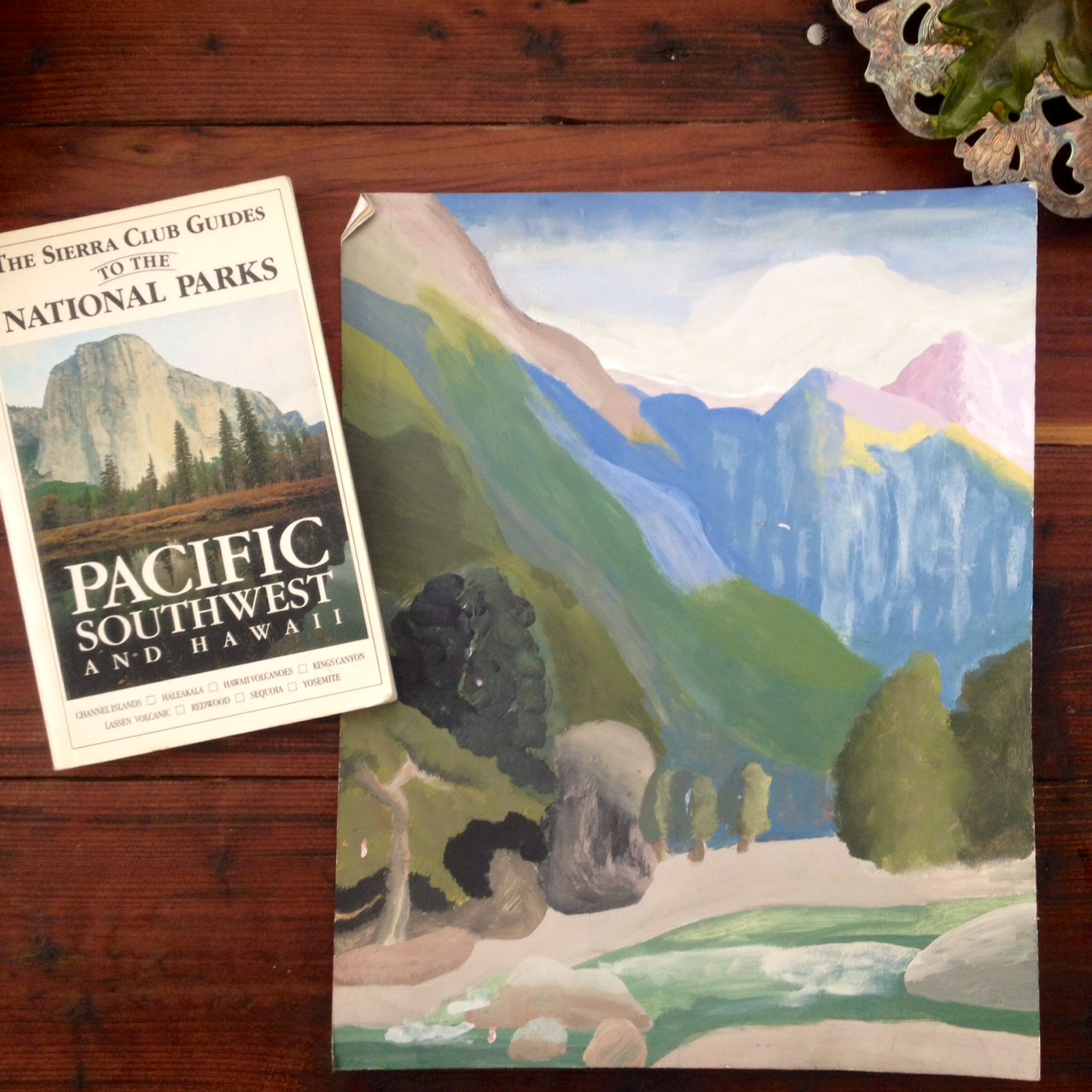 An old book and a painting from when I was a kid.