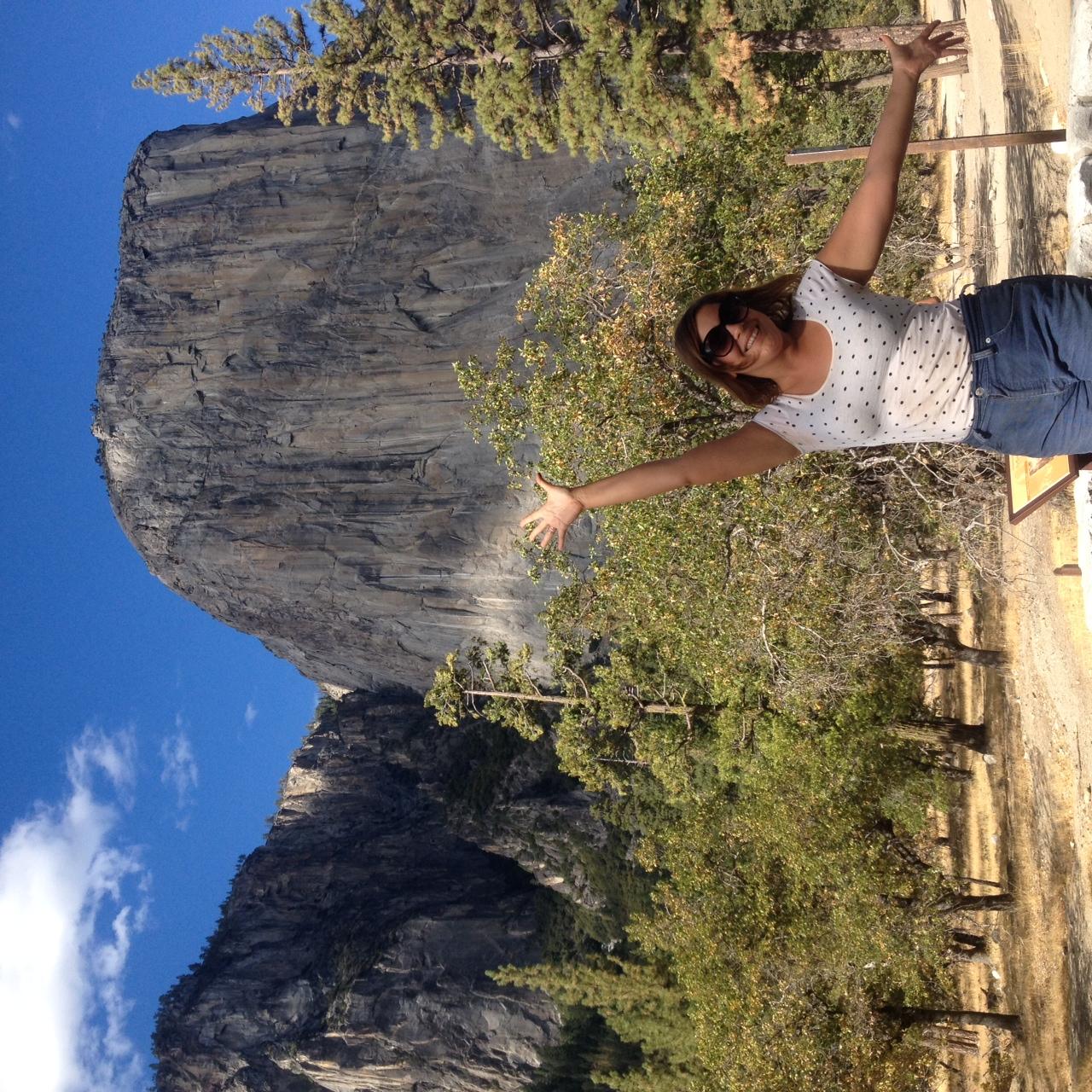 Rachel, very happy to be in Yosemite.