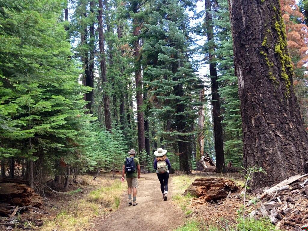 Bryan and I hiking back down.
