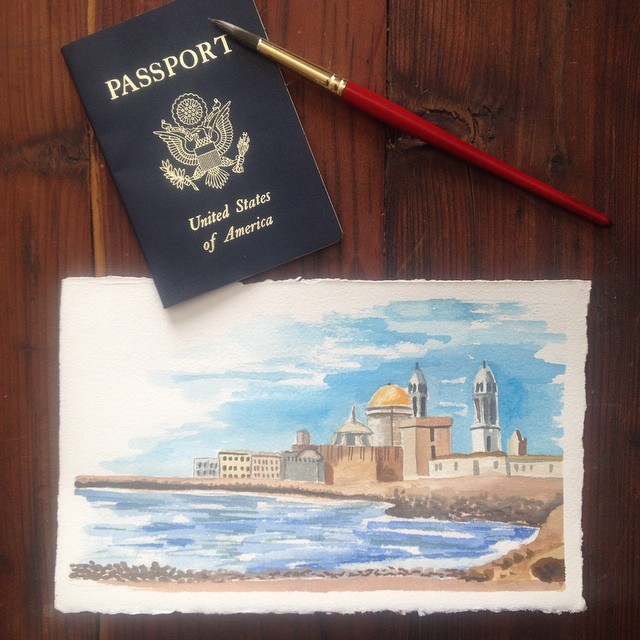 Travel Paintings, now available in my  Etsy shop