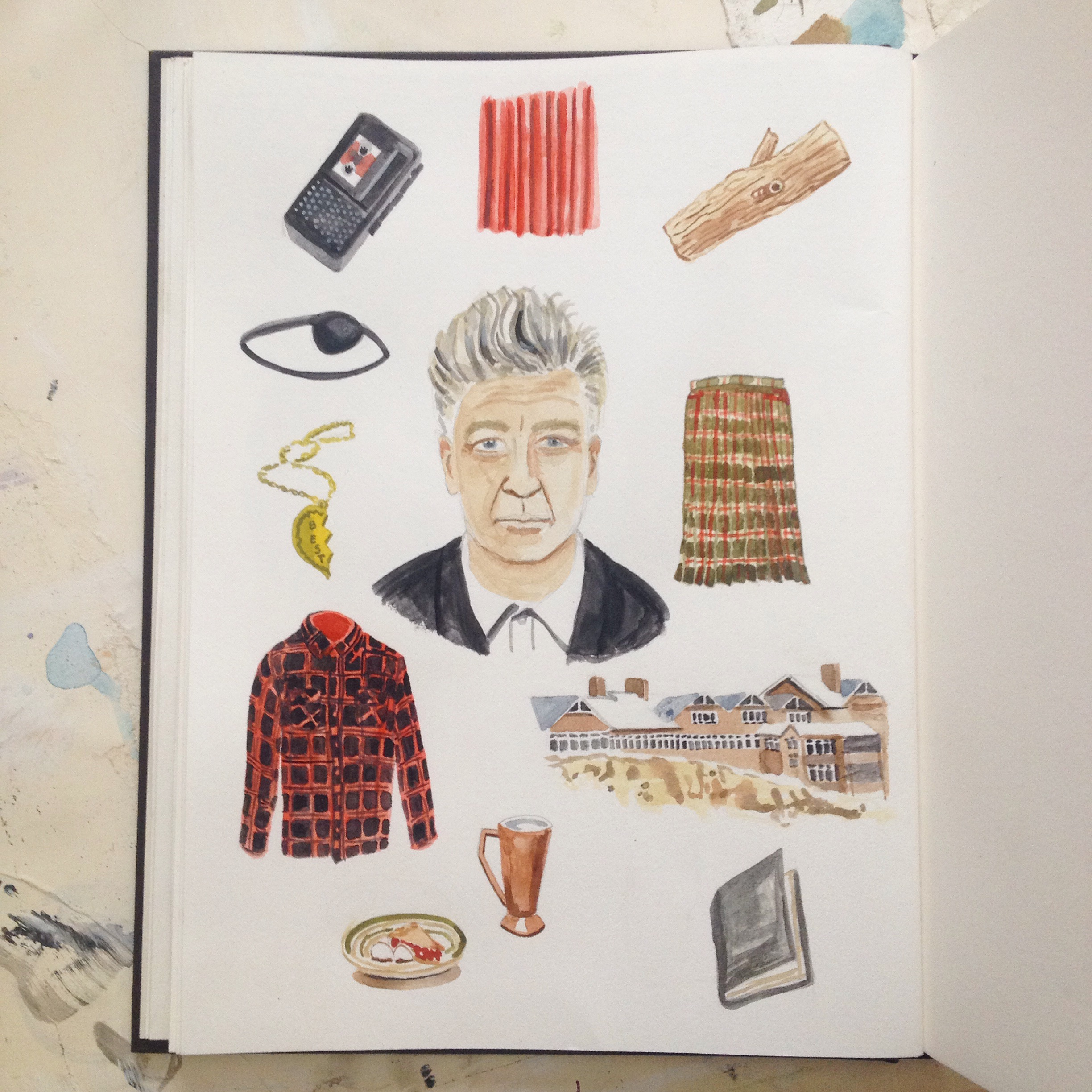 David Lynch and imagery of Twin Peaks.