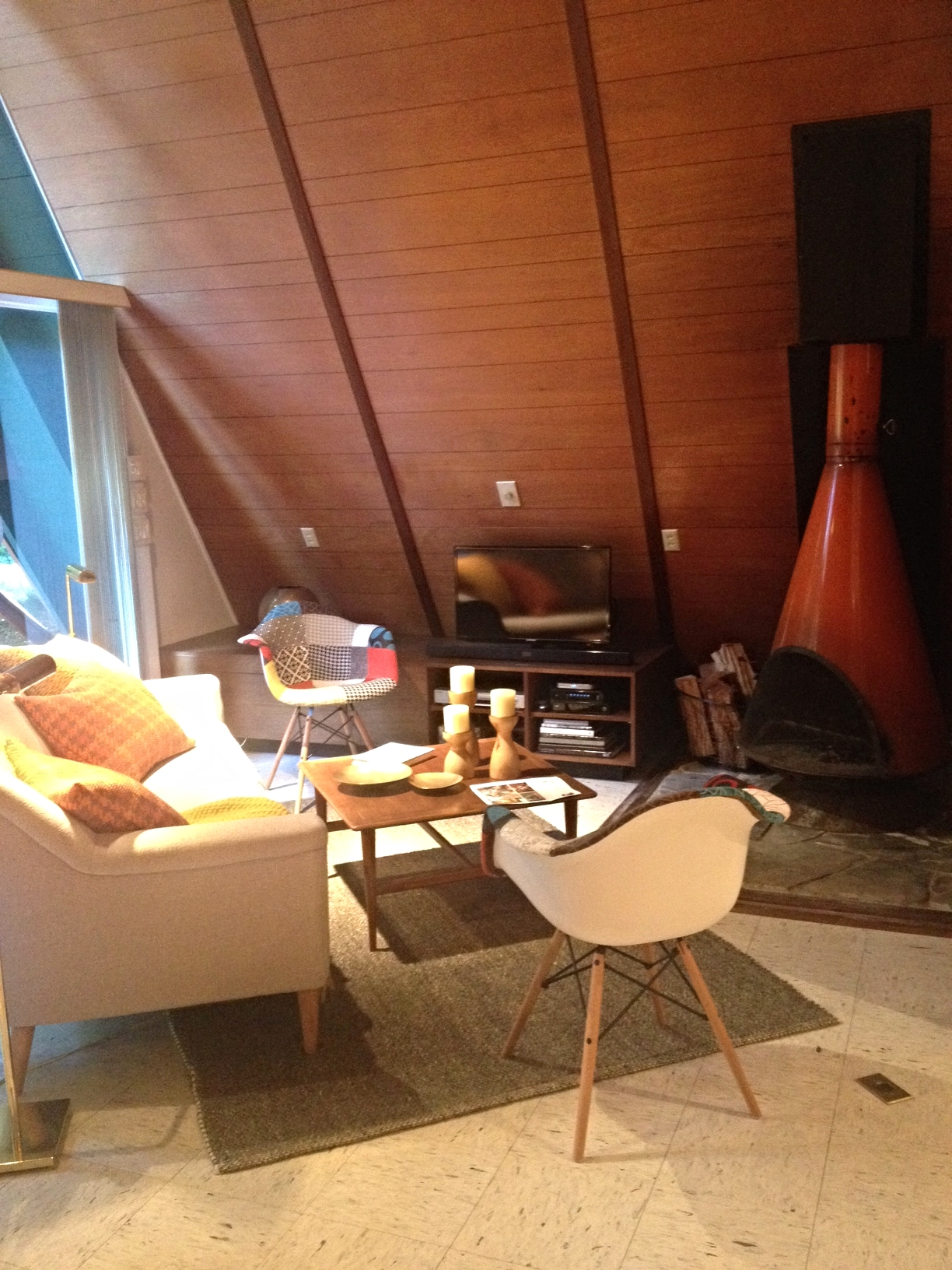 The mid-century modern living room