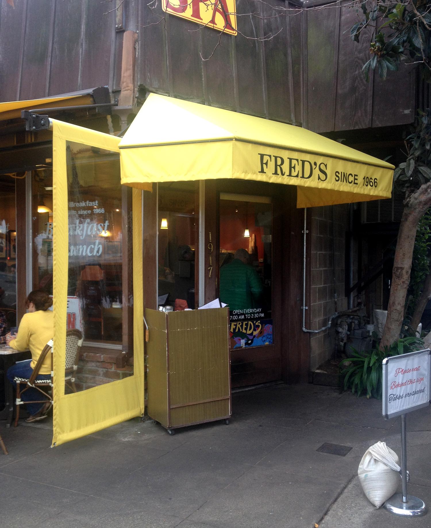 Fred's in Sausalito, CA