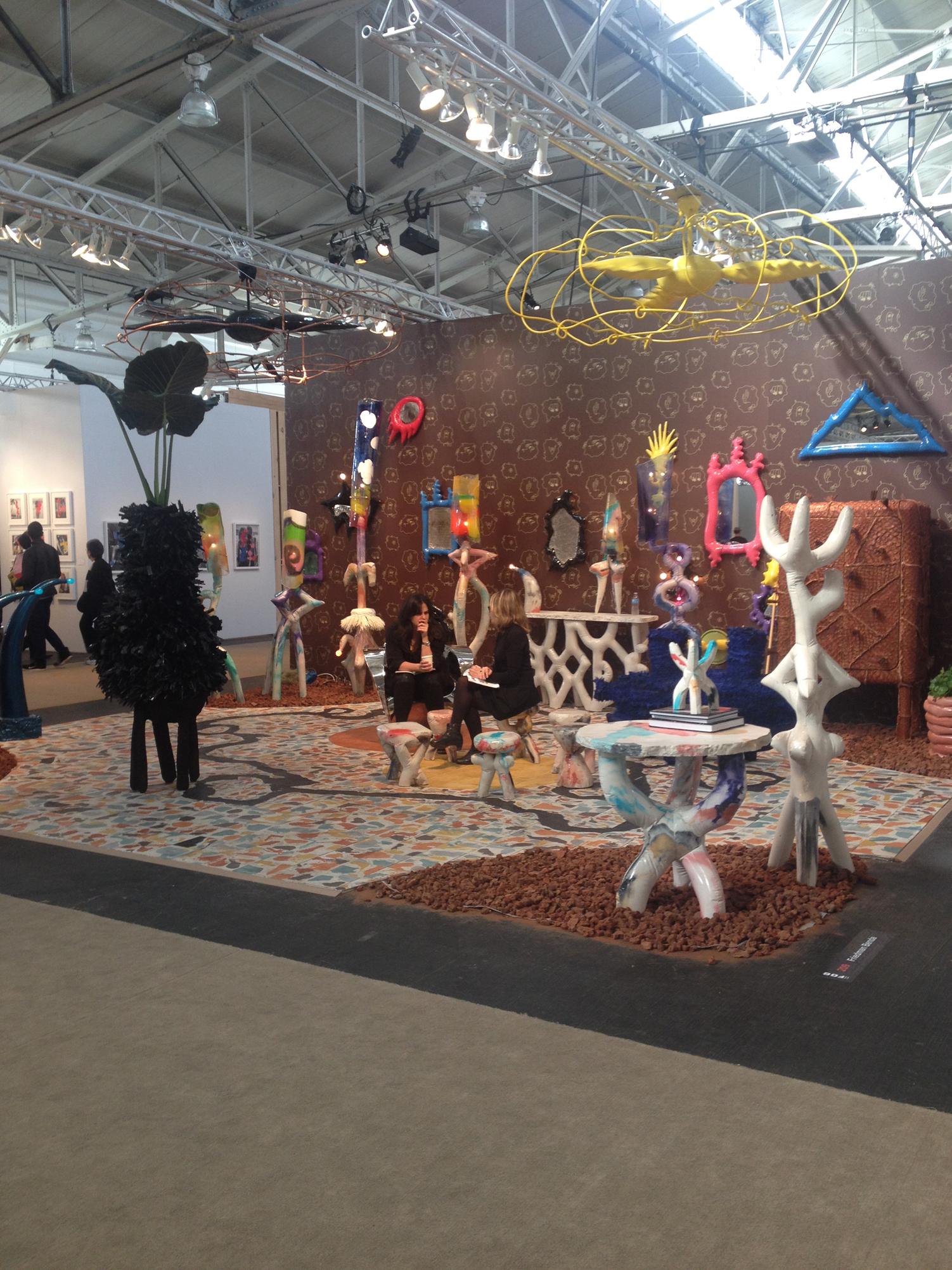 Installation by Misha Kahn for Friedman Benda