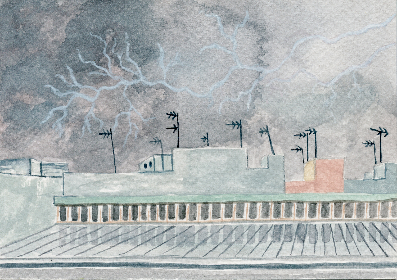 Cádiz lightning storm
