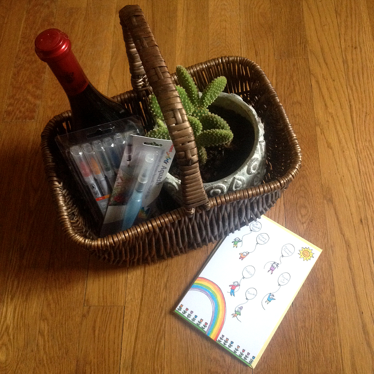 A basket recently found on my doorstep delivered from a good friend