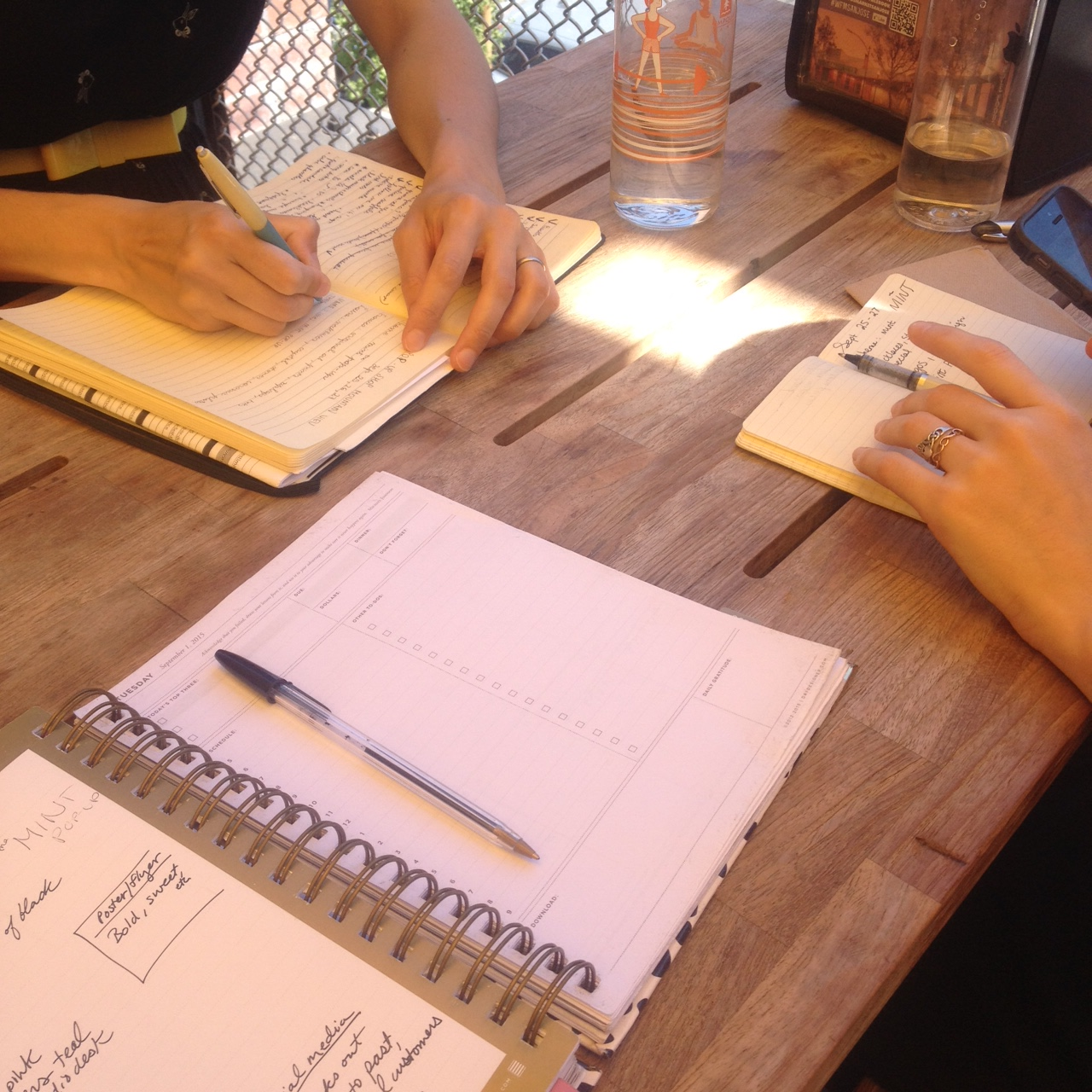Writing up our plans for the September pop-up