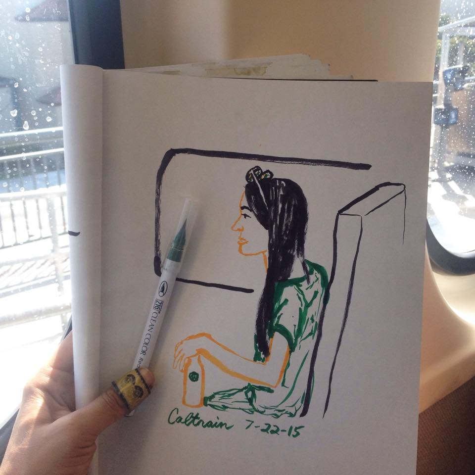 Shaky Caltrain sketch