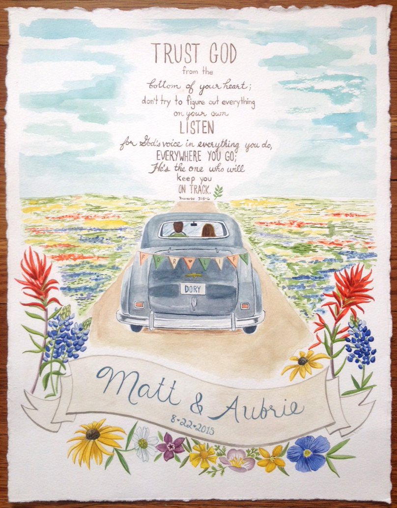 Texan Wedding Artwork