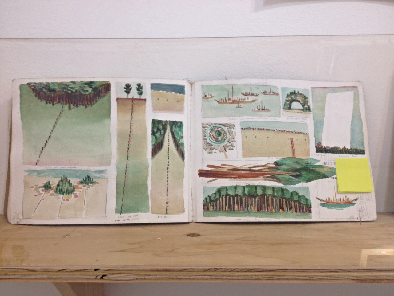 Sketchbook page by Rob Sato