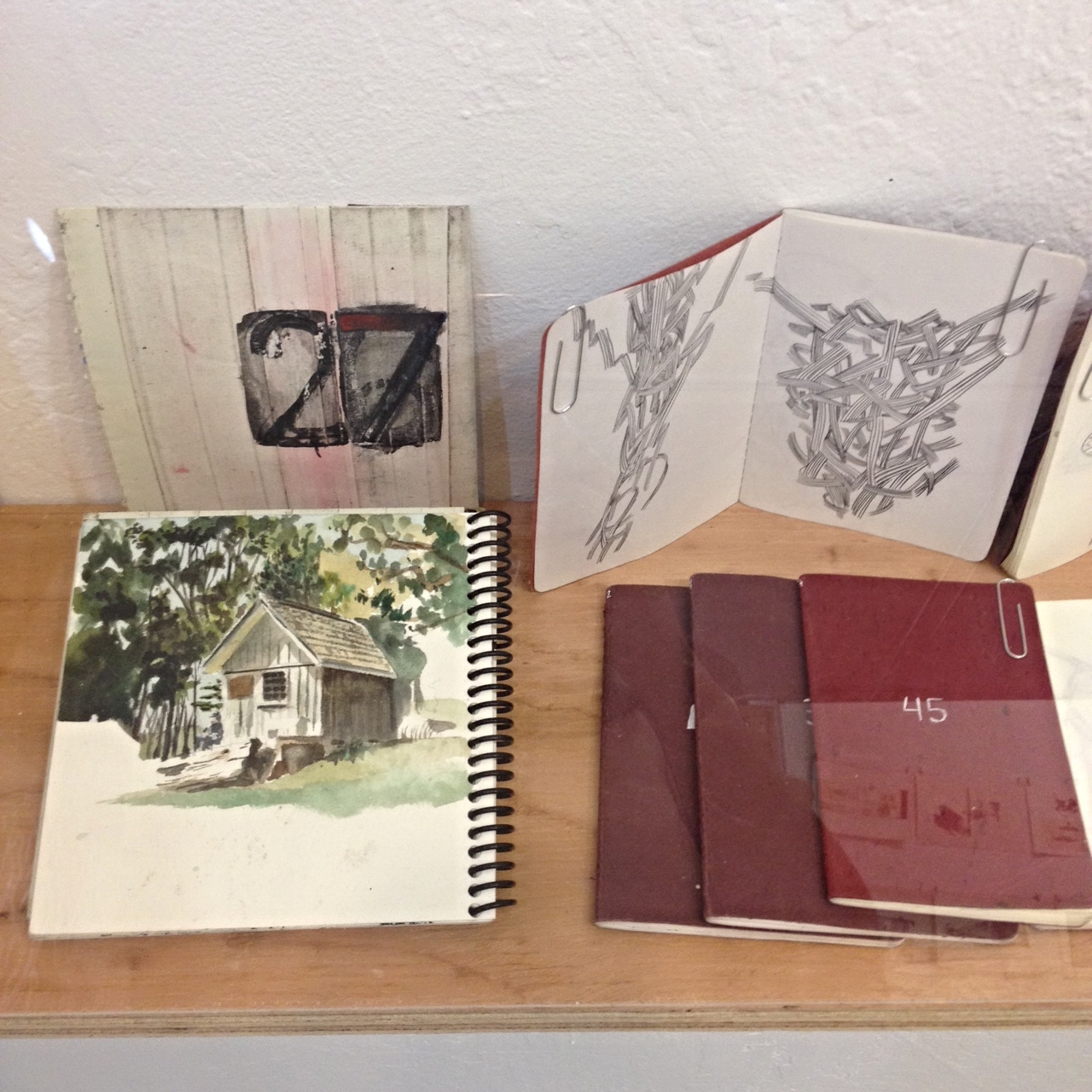 Sketchbooks by Rob Sato. All numbered as you can see here.