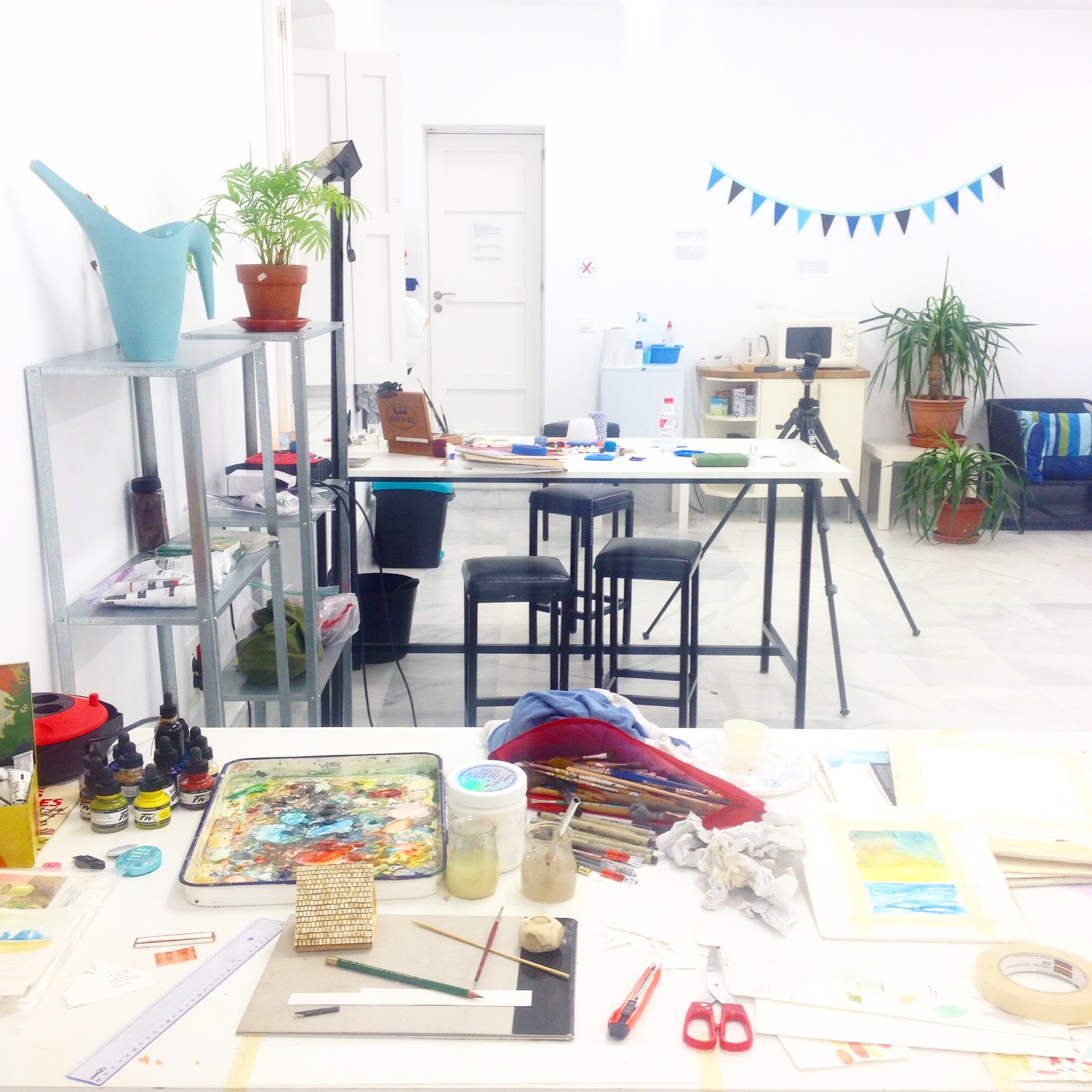 Art studio at the Linea de Costa art residency