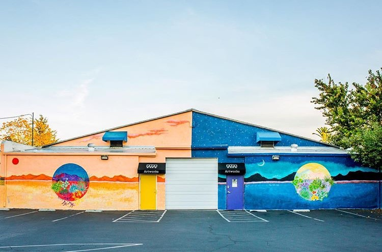 The finished mural. Photo by  Lanny Nguyen