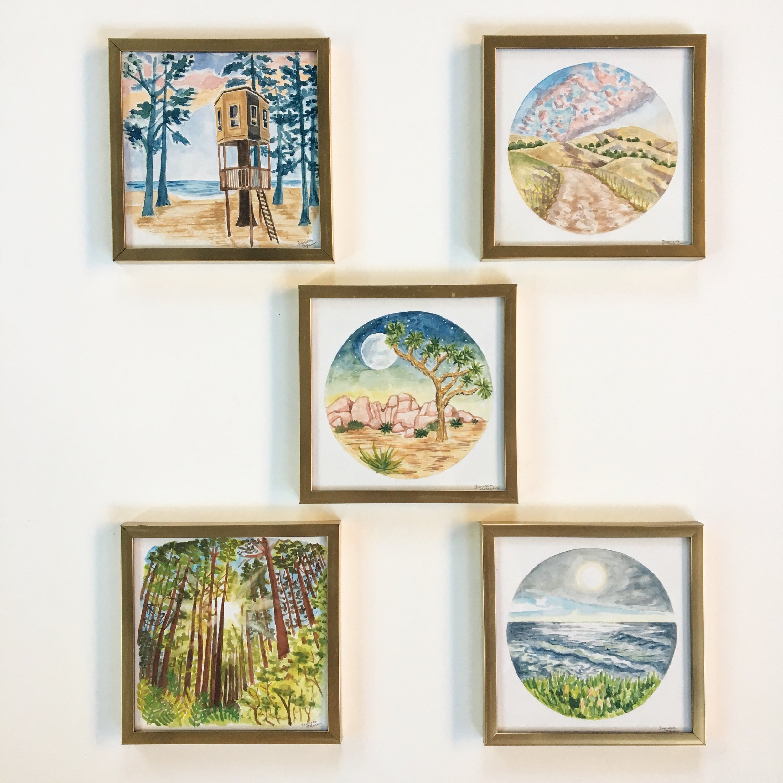 Original calendar paintings